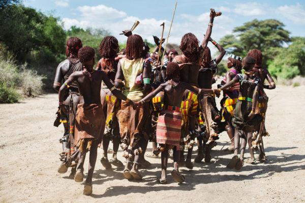 Hammar Volk bei eine Zeremonie in der Omo valley von Äthiopien, das Bild aus Afrika ist erhältlich im Onlineshop
