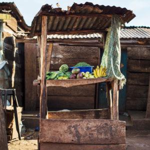 Afrikanische Markt in Uganda, das Bild aus Afrika ist erhältlich im Onlineshop