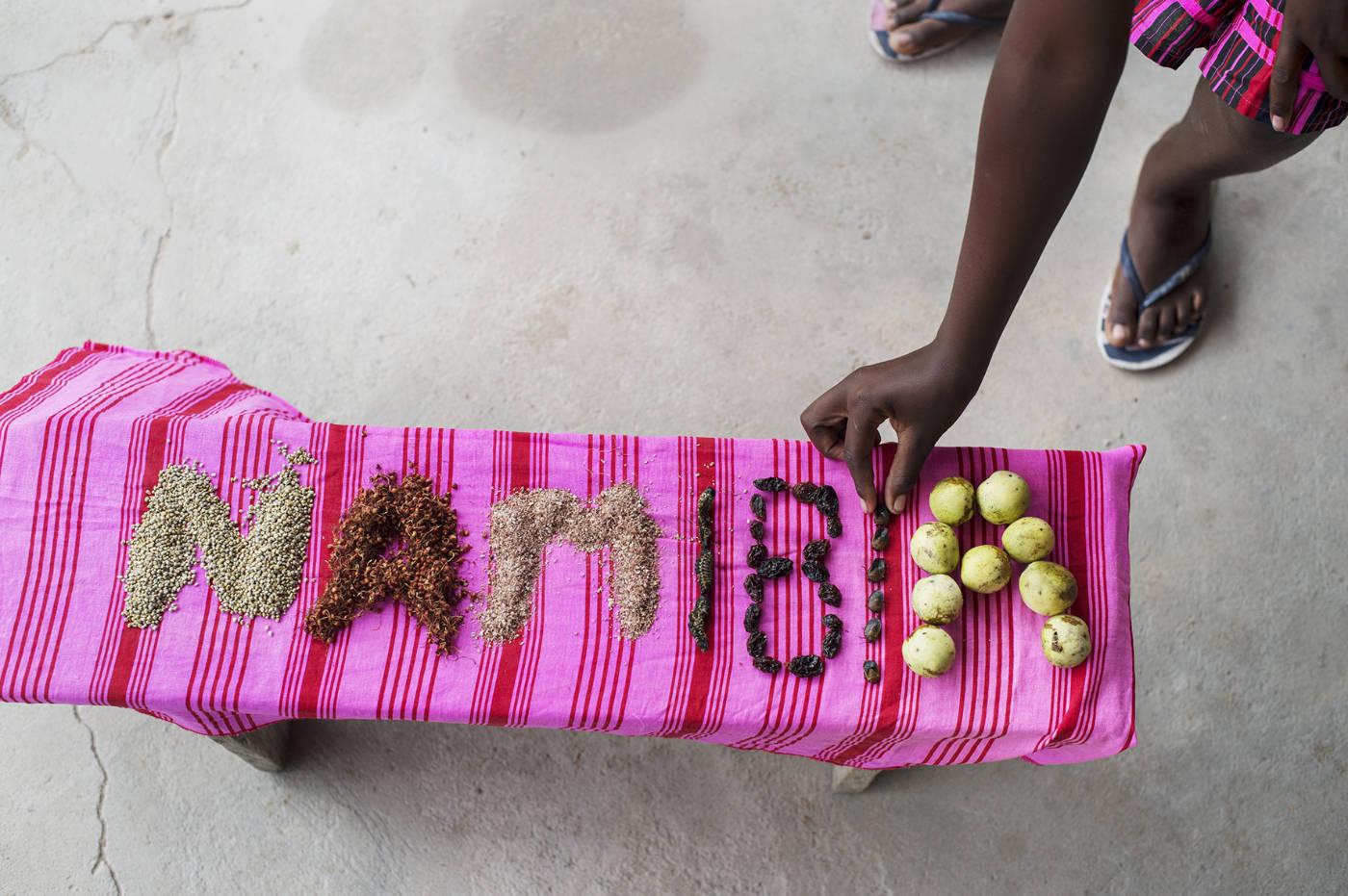 Essen in Namibia. Afrikanische Zutaten für das Afrika Kochbuch Eating with Africa