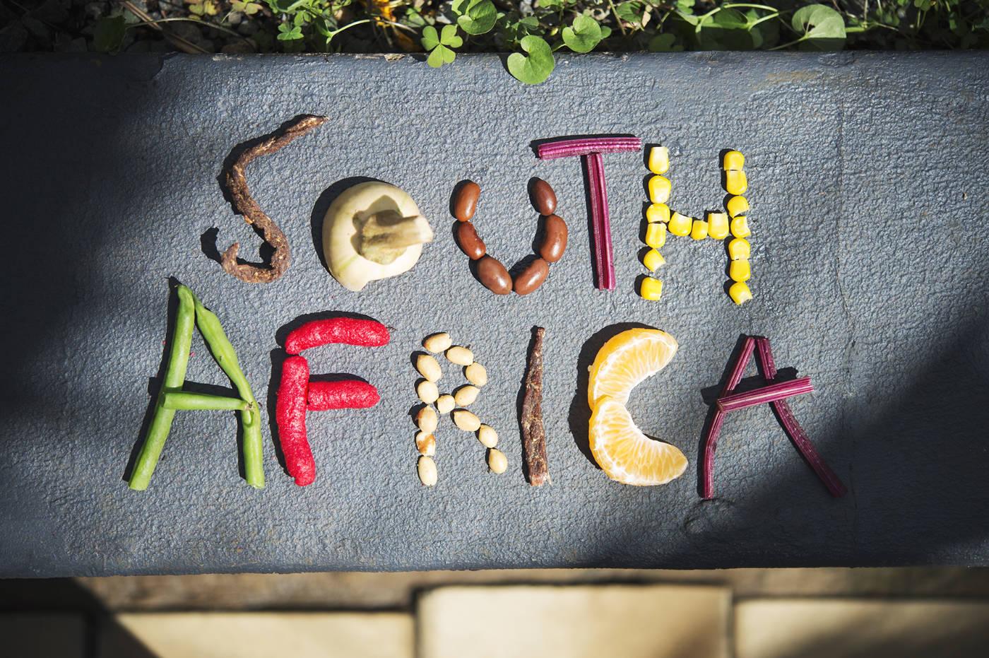 Essen in Südafrika. Afrikanische Zutaten für das Afrika Kochbuch Eating with Africa