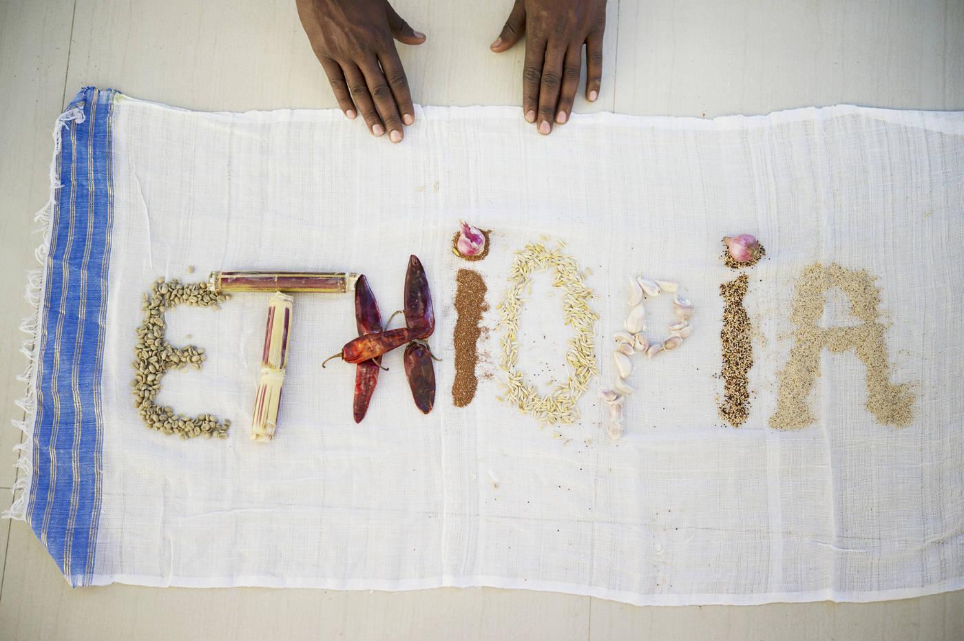 Essen in Äthiopien. Afrikanische Zutaten für das Afrika Kochbuch Eating with Africa