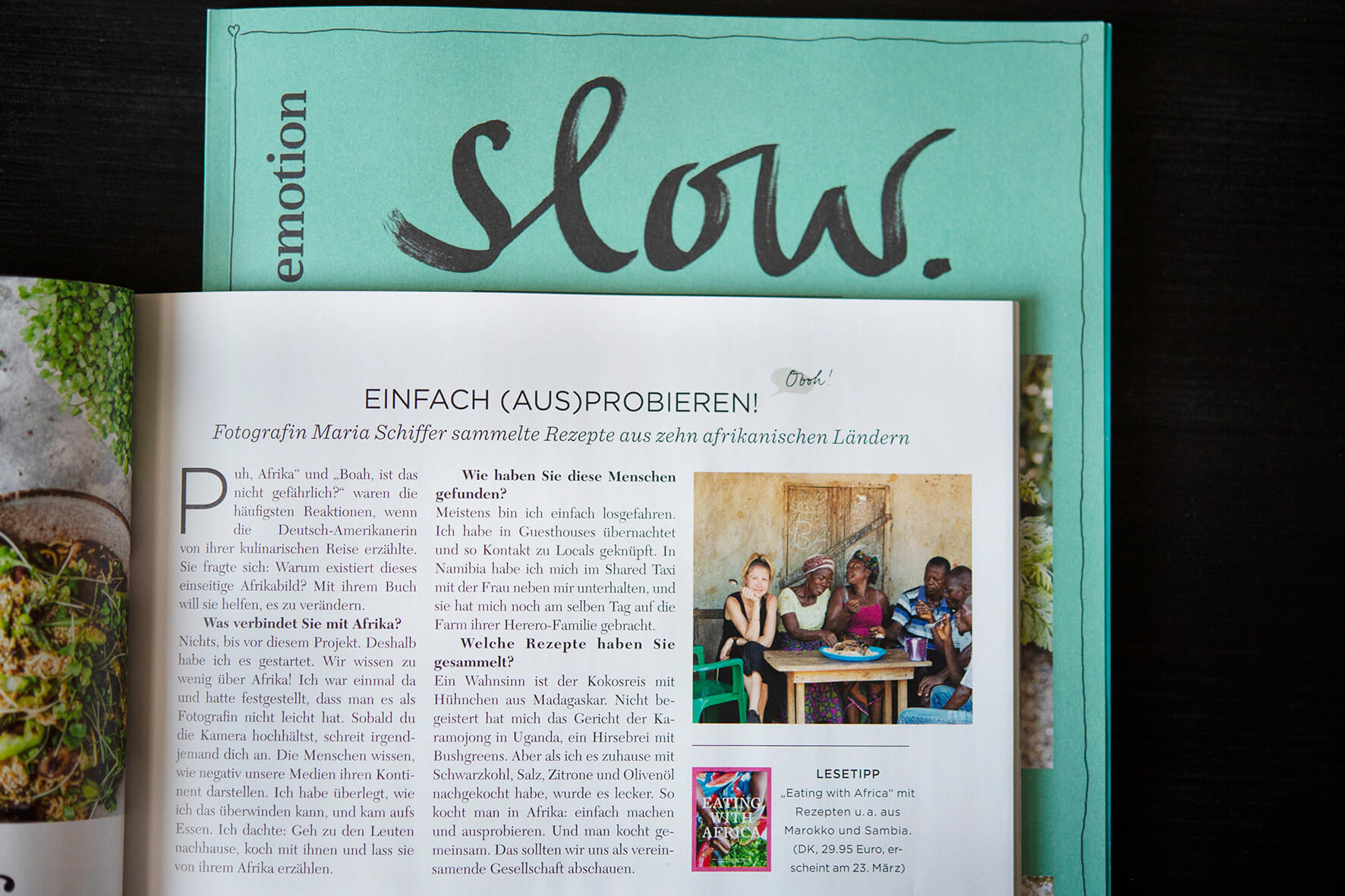 Eating with Africa, Maria Schiffer in Slow Magazin