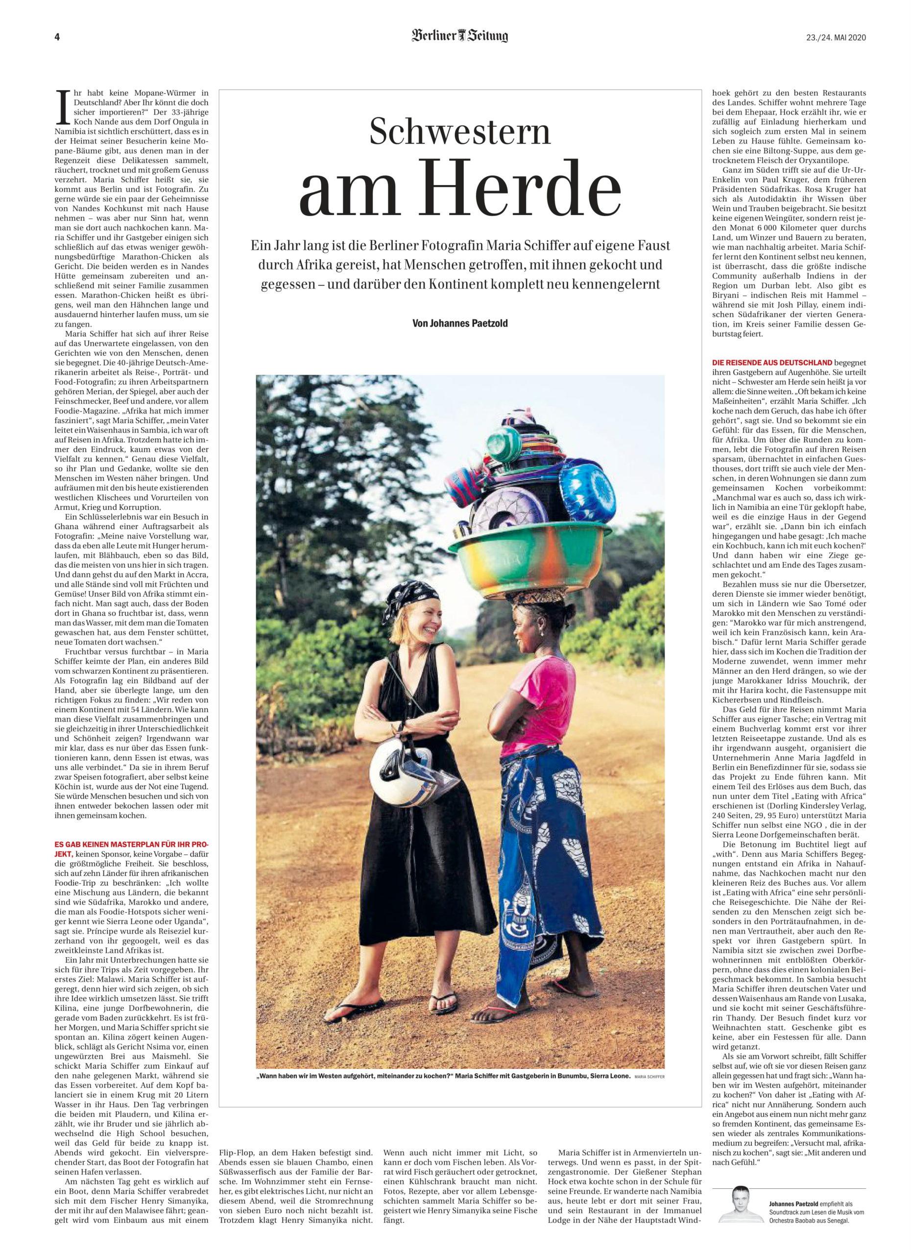 Eating with Africa, Autorin Maria Schiffer, Berliner Zeitung