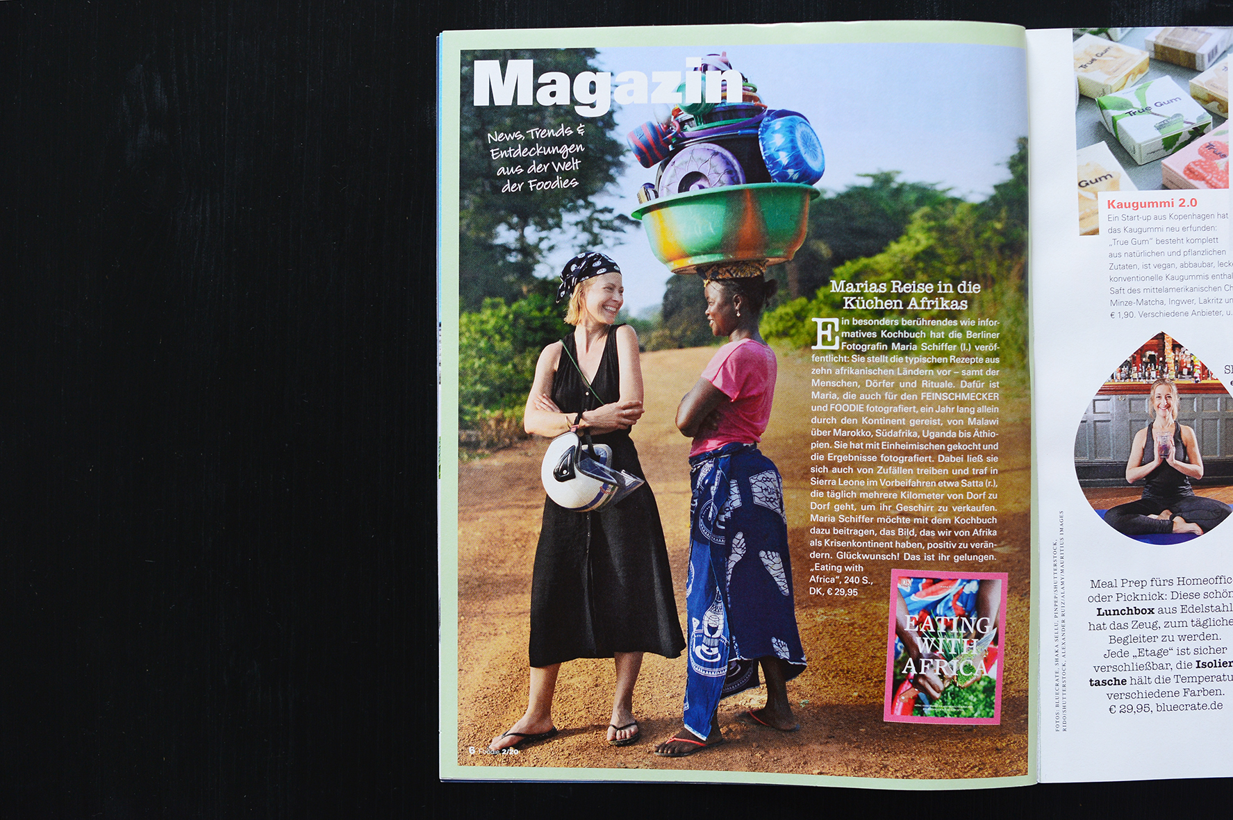 Foodie Magazin, Maria Schiffer in Sierra Leone für das Buch Eating with Africa